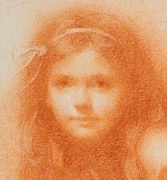 """susan lyon"" artist   Detail of Racheal conté drawing by Susan Lyon   Artist - Susan lyon"