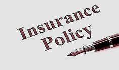 Document of Insurance Policy, Life; Health, car, travel,  for background