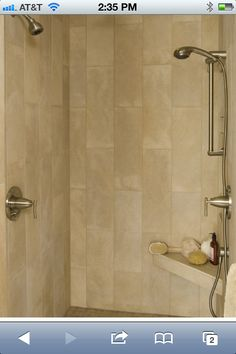 Master Bathroom Complete Remodel 12 Quot X 24 Quot Vertical Tile