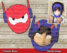 Big Hero 6 Printable Masks Baymax masks Party by OlivettaDesign