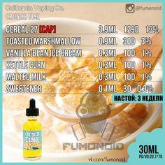 Premium E-liquids straight from the manufacturer Diy Vape Juice, Vape Facts, E Juice Recipe, Clone Recipe, Cotton Candy Clouds, Vape Smoke, Crunch Cereal, E Liquid Flavors, Alchemy