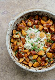 Smoked Paprika Potato and Egg Bake - A hearty one-dish meal for breakfast or dinner.