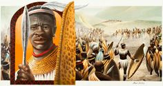 Shaka-King of the Zulus (1787-1828). A strong leader and military innovator, Shaka is noted for revolutionizing 19th century Bantu warfare. Over the years Shaka's troops earned such a reputation that many enemies would flee at the sight of them. The Shaka's nation now encompasses the present day Kwazwu-Natal, South Africa.
