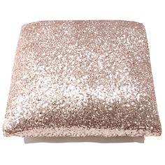 For glam types only: Blush Glitz Throw Pillow - handmade, cotton, sassy. #NECRetsy