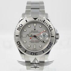 #Rolex #Yachtmaster Stainless Steel Platinum Dial Watch #16622 - #OCWatchCompany #WatchStore #WalnutCreek