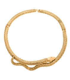 Aurélie Bidermann Tao Snake Necklace.