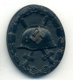 A German WWII late war Black Wound Badge (MC339) A Nice example of a mid to late war Black Wound Badge being the type manufactured by the firm Klein & Quenzer. See more at: http://www.war-medals.com/medal-pictures/mc339.html