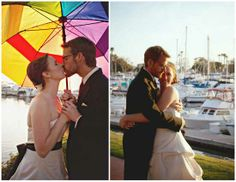 Read all about Julie & Johnny's Rainbow-Colored Rock and Roll Wedding on Poptastic Bride. Photos by Studio Sequoia.