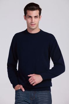Aliexpress.com : Buy Men's Cashmere Sweater Men's Crewneck Wool Pullover Sweaters Solid Color Authentic Plus Size Top Men's Jumpers Pull Homme from Reliable sweater blue suppliers on CC Cashmere