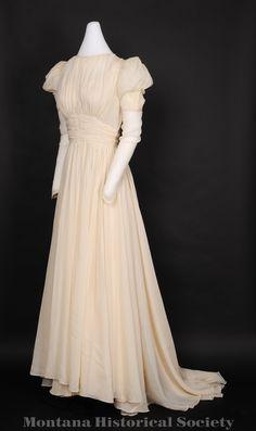 1939 wedding dress worn by Grace Fenton Ferris Spitzer on August 16, 1939.