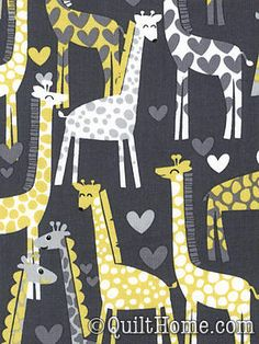 LOVE/thanks @Kayla Avery // Giraffe Fabric. Most people see this and think crib. I see this and think...Whole house everywhere. #giraffelurve