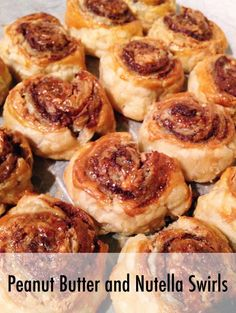 Recipe for Peanut Butter and Nutella Swirls -