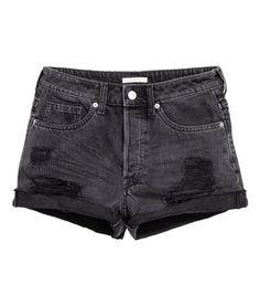 Trashed denim short | Product Detail | H&M
