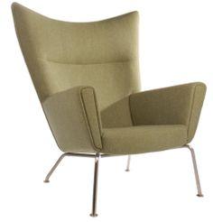 Replica Hans Wegner CH445 Wing Chair - Matt Blatt Outdoor Chairs, Outdoor Furniture, Outdoor Decor, Hans Wegner, Wing Chair, Lounge, My Style, Home Decor, Lighting