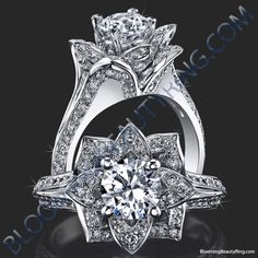 Carat (ctw) Princess Cut Diamond Engagement Rings for women and Wedding Band Set in White Gold – Terri's Treasures Jewelry & Gift Shop Lotus Flower Engagement Ring, Lotus Flower Ring, Round Diamond Engagement Rings, Designer Engagement Rings, Diamond Rings, Anniversary Rings, Wedding Rings, Bridal Rings, Gold Wedding