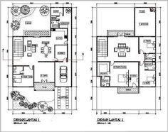 Gambar Denah Rumah Minimalis 2 Lantai Modern 11