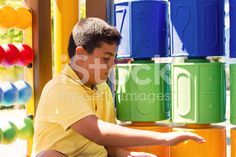 Boy Is Playing In The Playground royalty-free stock photo