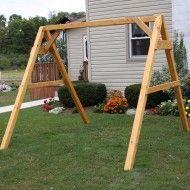 A Frame For Swings Porch Swing Frame Plans A Frame Porch Swing Plans A Frame Swing Set Brackets Canada A Frame Swing Set, Porch Swing Frame, Swing Set Plans, Diy Swing, Bench Swing, Pergola Swing, Pergola Kits, Gazebo, Pergola Ideas