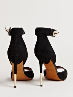 Givenchy Womens Metal Stiletto Heels - we love the 2 tones on the heels
