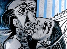 "Pablo Picasso - ""Le Baiser (The Kiss)"". 1969 The de Young opened its latest stellar exhibition on Saturday, celebrating the work of Pablo Picasso. Pablo Picasso Cubism, Kunst Picasso, Art Picasso, Picasso Drawing, Picasso Paintings, Oil Paintings, Georges Braque, Henri Matisse, Tomie Ohtake"