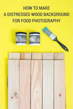 How To Make Distressed Wood Background For Food Photography - A Taste of Koko