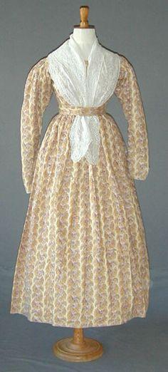 Roller-printed dress