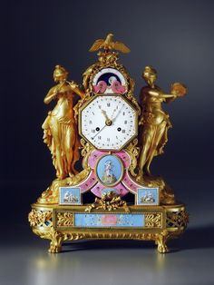 A late Louis XVI mantel clock, the enamel work by Joseph Coteau and movement by Dieudonné Kinable, Paris, circa 1785 Antique Bedroom Furniture, Antique Desk, Antique Clocks, Antique Pendulum Wall Clock, Skeleton Clock, Classic Clocks, Wall Clock Online, Clocks For Sale, Mantel Clocks