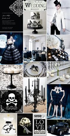 Gothic/Halloween wedding inspiration
