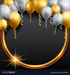 Birthday celebration background birthday balloon vector image on VectorStock Happy Birthday Cake Photo, Happy Birthday Frame, Birthday Photo Frame, Happy Birthday Video, Birthday Frames, Happy Birthday Balloons, Happy Birthday Images, Happy Birthday Greetings, Birthday Background Wallpaper