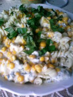 Těstoviny s nivovou omáčkou s kukuřicí