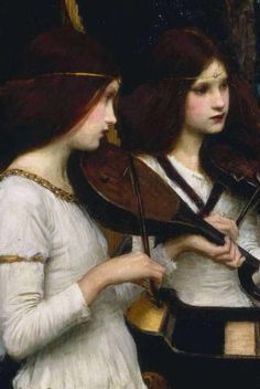 detail St. Cecilia, 1895 John William Waterhouse