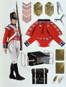 Redcoat - Original Painting by Graham Turner Ref: GT131  Infantry of the Line - Royal Scots, c.1800s.