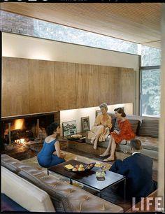 Beattie Residence. Rye, New York. 1958. Ulrich Franzen. (photo from Life Magazine)