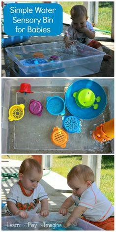 Water Play Sensory Bin for Babies ~ Learn Play Imagine