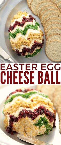 This Easter Egg Cheese Ball is an adorable Easter appetizer that is easy to make and super delicious. Start with a classic cheeseball and decorate for a unique Easter themed appetizer to serve at your Easter dinner party!