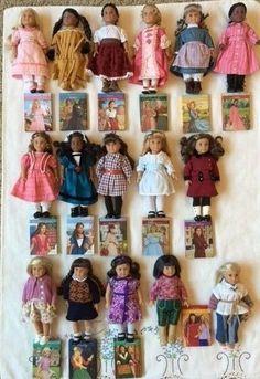 Lot of 16 American Girl MINI Dolls Cloth Body Kit Nellie Josefina Cecile Eliza+ #DollswithClothingAccessories