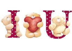 i love u Teddy Bear Tatty Teddy, Valentines Day Images Free, Love Valentines, Cute Images, Cute Pictures, I Love You Pictures, Decoupage, Teddy Bear Pictures, Blue Nose Friends