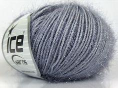 ice yarns sparkle shimmering yarn light grey  by turkishmarket, $6.00