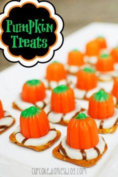 pumpkin-treats for halloween #halloween #fall