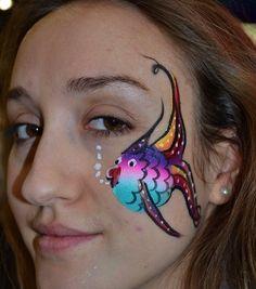 #faceNbodyPaint Rainbow fish