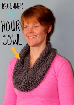 Crochet Beginner 1 Hour Cowl... too easy!