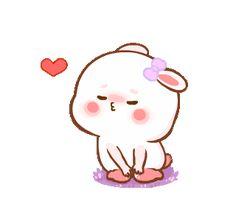 Cute Bunny Cartoon, Cute Couple Cartoon, Cute Love Stories, Cute Cartoon Pictures, Cute Love Pictures, Cute Love Gif, Cute Cat Gif, Calin Gif, Bisous Gif