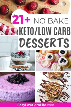 21 Easy No-Bake Keto /Low-Carb Desserts to Satisfy Your Sweet Tooth Cool Whip Desserts, Keto Dessert Easy, Sugar Free Desserts, Low Carb Desserts, Healthy Desserts, Dessert Recipes, Cheesecake With Whipped Cream, Whipped Cream Desserts, Mini Chocolate Cheesecake