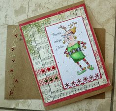 Reindeer Games from Art Impressions Christmas card.