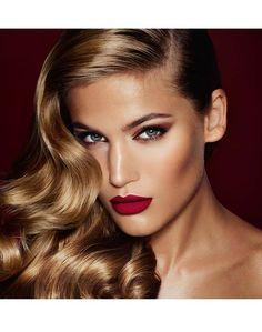 Charlotte Tilbury Matte Revolution: Red Carpet Red True ruby red matte lipstick