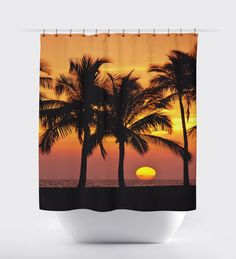 Sunset curtains,Bed and Bath, shower curtains, bathroom curtain,turtles, oceans bathroom decor, surfing,sunset curtains, ocean curtains. by BigWaveClothingCo on Etsy