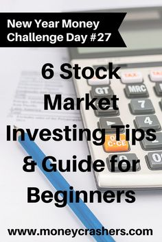 6 Stock Market Investing Tips & Guide for Beginners  Checklist http://www.moneycrashers.com/stock-market-investing-tips-guide-checklist/