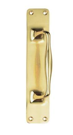 CARLISLE BRASS AA93 SOLID BRASS PUB STYLE PULL HANDLE 305MM