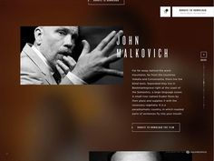 We bring together innovation, design, technology and business strategy to build award-winning websites, apps, and digital content. Award Winning Websites, Digital Campaign, John Malkovich, Texts, Language, Branding, Technology, Studio, Words