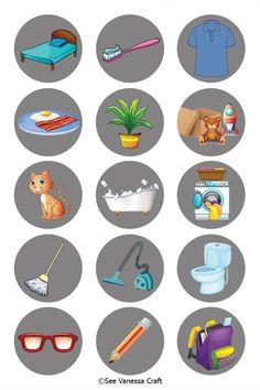 Craft: DIY Magnetic Chore Chart - See Vanessa Craft : Magnetic Chore Chart Tutorial for Kids and Back to School Babysitting Activities, Montessori Activities, Activities For Kids, Printable Chore Chart, Chore Chart Kids, Chore Magnets, Chore Board, Job Chart, Kids Schedule